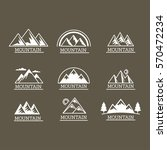 vector mountains icons isolated ... | Shutterstock .eps vector #570472234