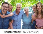 portrait of smiling family with ... | Shutterstock . vector #570474814