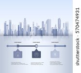 city skyscraper view cityscape... | Shutterstock .eps vector #570474931