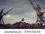 Metal Recycling Cranes Over...