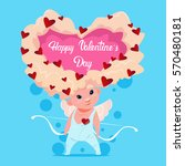 valentine day gift card holiday ... | Shutterstock .eps vector #570480181