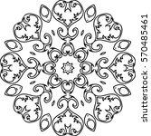 mandala illustration for... | Shutterstock .eps vector #570485461