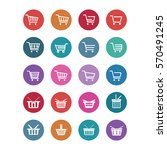 vector shopping cart icons set | Shutterstock .eps vector #570491245