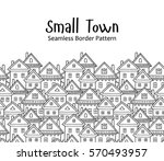 seamless vector pattern with... | Shutterstock .eps vector #570493957