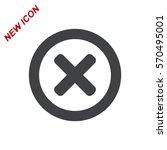 cross icon vector flat design...   Shutterstock .eps vector #570495001