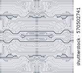 vector gray circuit board... | Shutterstock .eps vector #570502741