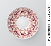 decorative plate with round... | Shutterstock .eps vector #570517969