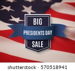 presidents day sale background... | Shutterstock .eps vector #570518941