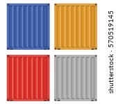 set of cargo container for...   Shutterstock .eps vector #570519145