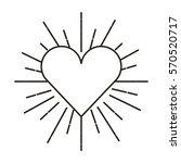 heart love card valentines day... | Shutterstock .eps vector #570520717