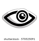 eye human sign isolated icon... | Shutterstock .eps vector #570525091