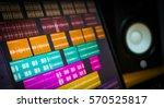 colorful digital waveform on... | Shutterstock . vector #570525817