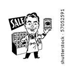 mister grocer   retro clip art | Shutterstock .eps vector #57052591