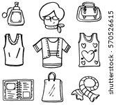 vector art of women clothes set ... | Shutterstock .eps vector #570526615