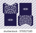 a festive envelope  box  cover... | Shutterstock .eps vector #570527185