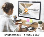 distance learning online... | Shutterstock . vector #570531169