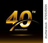 40 years golden anniversary... | Shutterstock .eps vector #570535054