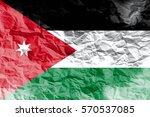jordan national flag...   Shutterstock . vector #570537085