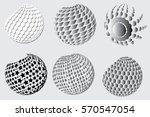 halftone vector circle dot | Shutterstock .eps vector #570547054