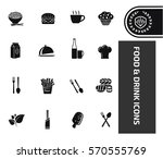 food and drink icon set clean...   Shutterstock .eps vector #570555769