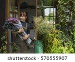 flower shop store florist...   Shutterstock . vector #570555907