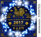 gold calligraphy 2017. happy... | Shutterstock . vector #570557521