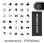business icon set clean vector | Shutterstock .eps vector #570560461