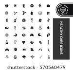 health care icon set clean... | Shutterstock .eps vector #570560479