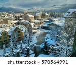 ski resort.  olympic village.... | Shutterstock . vector #570564991