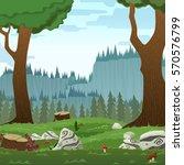 square forest landscape  vector ... | Shutterstock .eps vector #570576799