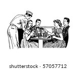 the gang at the malt shop  ... | Shutterstock .eps vector #57057712