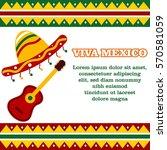 mexico theme poster...   Shutterstock .eps vector #570581059