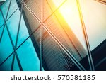 modern architecture with sun... | Shutterstock . vector #570581185