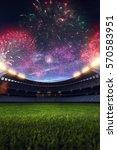 stadium night light without... | Shutterstock . vector #570583951