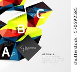 colorful triangle mosaic 3d... | Shutterstock .eps vector #570592585