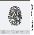 fingerprint vector icon. | Shutterstock .eps vector #570594019