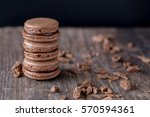 french tasty chocolate... | Shutterstock . vector #570594361