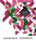 vector abstract geometric... | Shutterstock .eps vector #570594475