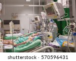 Small photo of Patient in ICU blurred