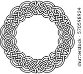 Round Celtic Pattern. Element...