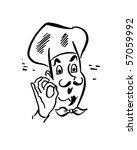 french chef   retro clip art | Shutterstock .eps vector #57059992