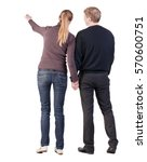 back view of young couple  man... | Shutterstock . vector #570600751