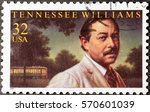 Small photo of Milan, Italy - January 30, 2017: Tennessee Williams on american postage stamp