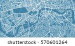 vector map of  center of london ... | Shutterstock .eps vector #570601264