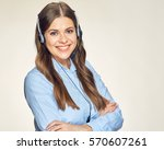 call center operator isolated... | Shutterstock . vector #570607261