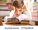 photo of young boy looking at... | Shutterstock . vector #57060814