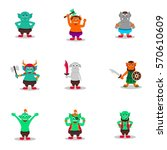 orc  giant  monster  little... | Shutterstock .eps vector #570610609