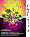 tropical music event disco... | Shutterstock .eps vector #57061135