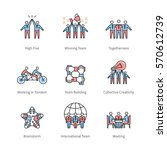 team work  management  business ... | Shutterstock .eps vector #570612739
