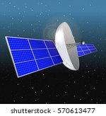 gps satellite communications | Shutterstock .eps vector #570613477